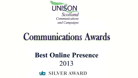 UWS Branch Success at UNISON Scotland Communications Awards