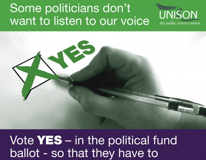 Vote YES in the political fund ballot