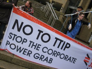 Stop TTIP action in Glasgow