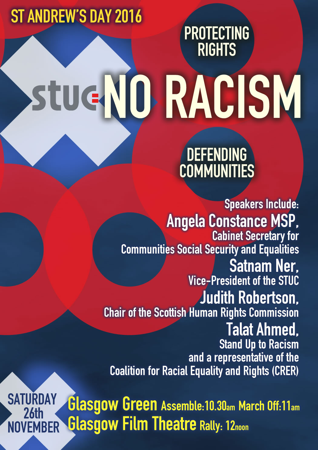 St Andrew's Day Anti-Racism March and Rally 26 November